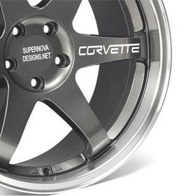 4x Corvette Felgenaufkleber