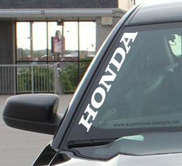 Honda Frontscheibenaufkleber