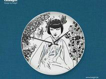"""Chinagirl"" Art- Decor Wanduhr"