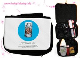 Eisgedanken © hatgirl.de Badtasche, Schminktasche, Waschtasche, Reisetasche,  Kulturtasche