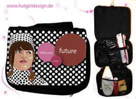 50s Retro Girl - hatgirl.de Badtasche, Schminktasche, Waschtasche, Reisetasche,  Kulturtasche