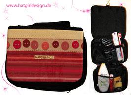 Vintage Dots - hatgirl.de Badtasche, Schminktasche, Waschtasche, Reisetasche,  Kulturtasche