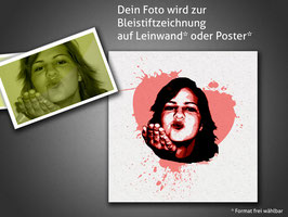 I Love You Poster-Porträitierung ohne Druckkosten