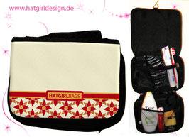 Vintage Floral Pattern - hatgirl.de Badtasche, Schminktasche, Waschtasche, Reisetasche,  Kulturtasche