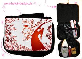 Blumenwind- hatgirl.de Badtasche, Schminktasche, Waschtasche, Reisetasche,  Kulturtasche