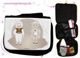 Kosmonaut und Mondmädchen - hatgirl.de Badtasche, Schminktasche, Waschtasche, Reisetasche,  Kulturtasche