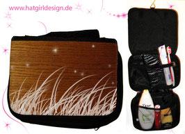 Holzwiese - hatgirl.de Badtasche, Schminktasche, Waschtasche, Reisetasche,  Kulturtasche