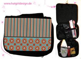 Vintage Flower - hatgirl.de Badtasche, Schminktasche, Waschtasche, Reisetasche,  Kulturtasche