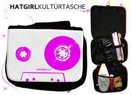 Retro Tapedeck Pink © hatgirl.de Badtasche, Schminktasche, Waschtasche, Reisetasche,  Kulturtasche