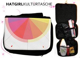Rainbow Circle © hatgirl.de Badtasche, Schminktasche, Waschtasche, Reisetasche,  Kulturtasche
