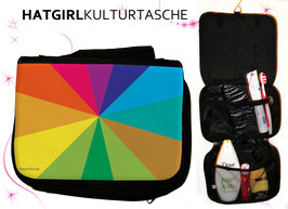 Regenbogen © hatgirl.de Badtasche, Schminktasche, Waschtasche, Reisetasche,  Kulturtasche