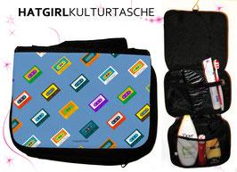 Tapedecks Petrol - hatgirl.de Badtasche, Schminktasche, Waschtasche, Reisetasche,  Kulturtasche