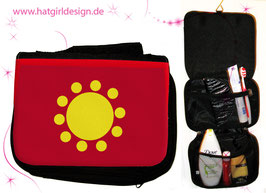 Alltagshelden  Eisenhart © hatgirl.de Badtasche, Schminktasche, Waschtasche, Reisetasche,  Kulturtasche