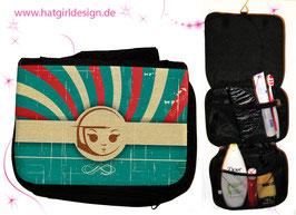 Blue Vintage Girl - hatgirl.de Badtasche, Schminktasche, Waschtasche, Reisetasche,  Kulturtasche