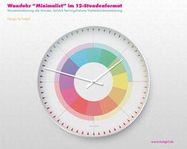 """""""Rainbow Circle"""" Schlichte Wanduhr ohne Ziffern von hatgirldesign"""