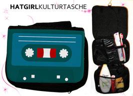Retro Tapedeck © hatgirl.de Badtasche, Schminktasche, Waschtasche, Reisetasche,  Kulturtasche