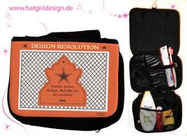 Ostalgie Design Revolution- hatgirl.de Badtasche, Schminktasche, Waschtasche, Reisetasche,  Kulturtasche