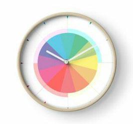 """""""Rainbow Circle Torte"""" Schlichte Wanduhr ohne Ziffern von hatgirldesign"""