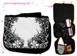 Florale Grafik- hatgirl.de Badtasche, Schminktasche, Waschtasche, Reisetasche,  Kulturtasche