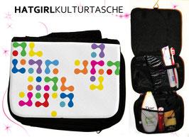 Bunte Synapsen Klatschen - hatgirl.de Badtasche, Schminktasche, Waschtasche, Reisetasche,  Kulturtasche