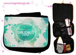 Ehrlichkeit und Respekt - hatgirl.de Badtasche, Schminktasche, Waschtasche, Reisetasche,  Kulturtasche