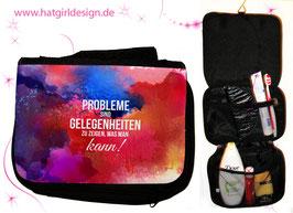 Probleme sind Gelegenheiten - hatgirl.de Badtasche, Schminktasche, Waschtasche, Reisetasche,  Kulturtasche
