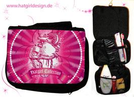 Pink Heartcollection - hatgirl.de Badtasche, Schminktasche, Waschtasche, Reisetasche,  Kulturtasche