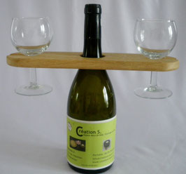 Porte bouteille/2 verres Croix Occitane