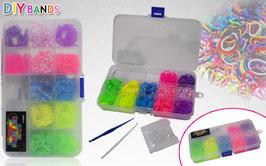 Colorful DIY Bands - Super fun band bracelet making kit 360pcs