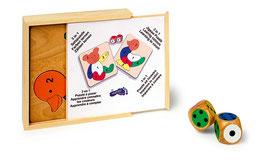 3 in 1 Setzpuzzle Farben lernen, Zählen lernen