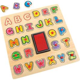 Stempel und Puzzle ABC