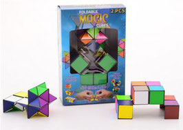 Foldable MAGIC cubes