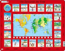 Die Zeitzonen der Erde - Lernpuzzle