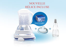 Pack Eco Vitalizer Plus (2 cubes) + nouvelle hélice + spray ioniseur