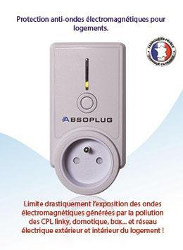 Absoplug, protection contre la pollution électromagnétique et des radiofréquences ( CPL linky, domotique , réseau électrique...)