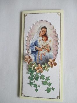 Grußkarte Neutral  Madonna 7 DIN Lang