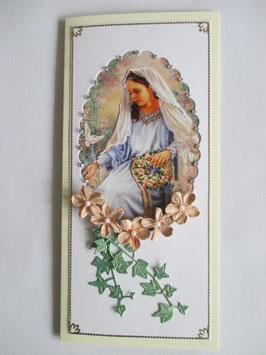 Grußkarte Neutral  Madonna 4 DIN Lang