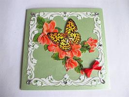 Grußkarte Neutral Lindgrün 2