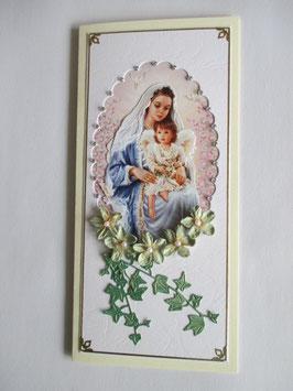 Grußkarte Neutral  Madonna 5 DIN Lang