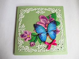 Grußkarte Neutral  Lindgrün