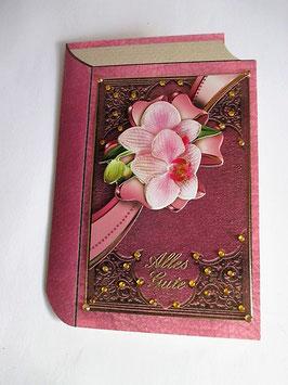 """Geburtstagskarte """" Happy Birthday"""", Buch , Handarbeit 4"""