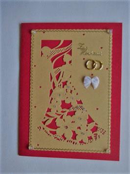 Hochzeitskarte XL, Grußkarte Hochzeit, Handarbeit