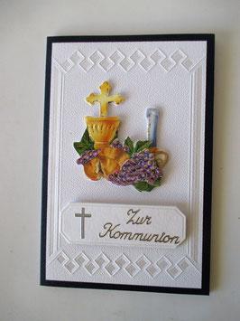 Grußkarte zur Kommunion, Kommunion