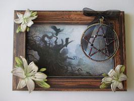 Geschenk-Set Grußkarte, Pentagramm
