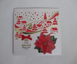Lichtkarte, Weihnachten, Winterdorf,  Leuchtet!! 2