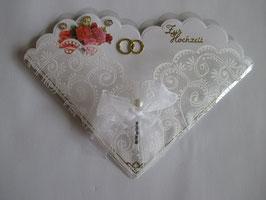 Hochzeitskarte, edel, Herzform 4
