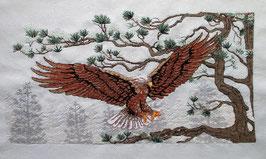 Stickbild Adler, aufwendige Handarbeit!