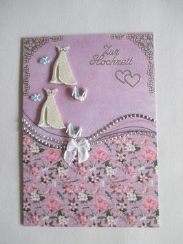 Hochzeitskarte, Hochzeit, Dame und Dame, Lila