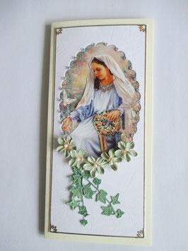 Grußkarte Neutral  Madonna 6 DIN Lang