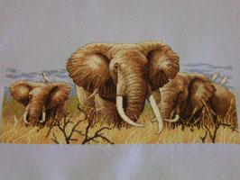 Stickbild Elefanten Elefant , echte Handarbeit!